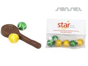 Tennis-Schläger und Ball-Set Pralinen