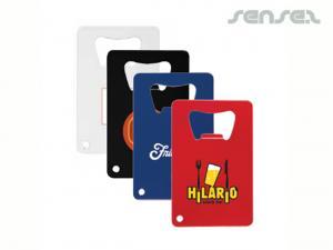 Farbige Kreditkarte Flaschenöffner