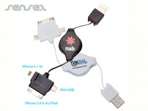 3 In 1 Retractable USB Chargers