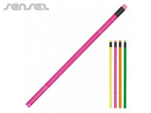 Neon Pencils with Eraser