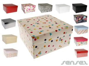 Huge Cardboard Gift Boxes (22x22cm)