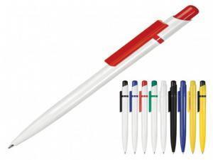 Günstige Qualtiy weiße Kunststoff-Kugelschreiber