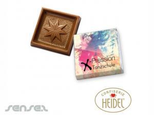 Quadrat-Schokoladen Täfelchen (5g)