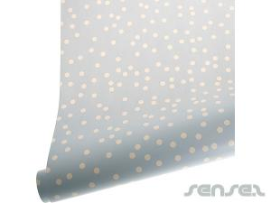 Confetti blue Gift Wrap 3m (Unbranded)