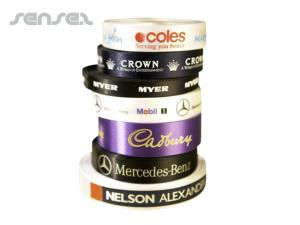 PMS Satin Ribbon with Logo Print