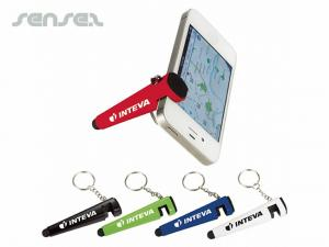 Phone Holder-Stylus Keychains