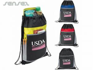 Pocketed Drawstring Backpacks