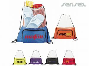 Mesh Top Drawstring Backpacks