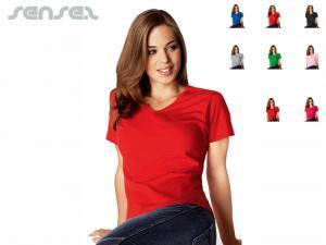 Damen-T-Shirts mit V-Ausschnitt
