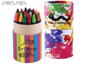 Custom Crayons in Cardboard Tube