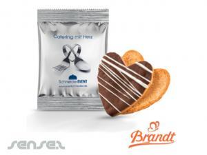 Herz formte Schokoladen-Plätzchen (7g)