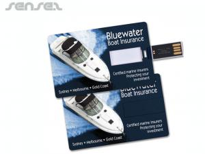 Low Minimum Creditcard Flash Drives (4GB)