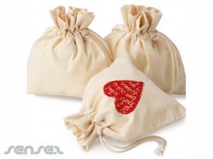 Calico Drawstring Gift bags
