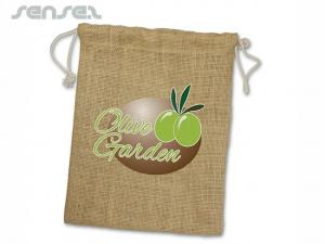 Eco Drawstring Jute Bags (Medium)