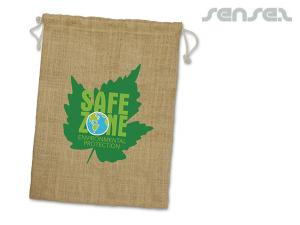 Eco Drawstring Jute Bags (Large)