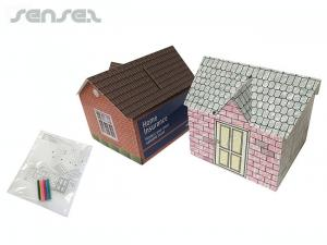 DIY House Shaped Coin Banks