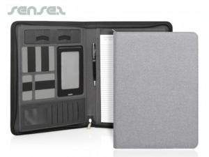 Linen Compendiums w/Zipper (A4)