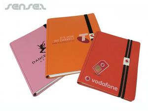 Recycled Leather Notebooks And Logo Clip A6