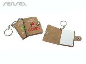 Mini Leather Keychain Sticky Notes