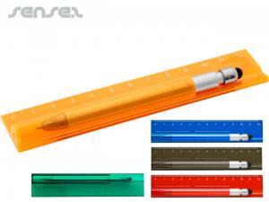 Lineal mit Stylus Pens (12cm)