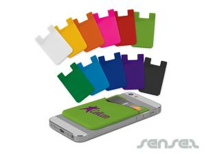 Silicone Colour Phone Wallets