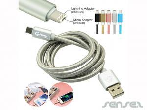Universal USB Lade Kabel- Metallic