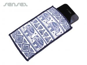 Full Col Padded Microfiber iPhone Pouches