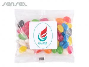 Verschiedene Farbe Mini Jelly Beans in Cello-Beutel (60g)