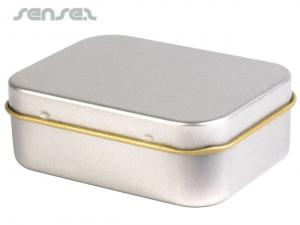 Undecorated Silver Tins
