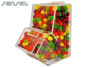 Clear Dispenser with Assorted Skittles