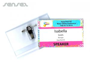 Printed Business Card Size Badge Holders