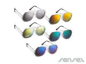 Bunte Objektiv Flieger-Sonnenbrille