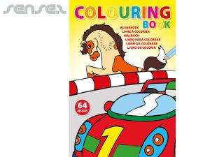 Kids Big Colouring Books (A4)