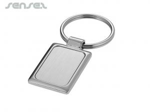 Argent Rectangle Keyrings