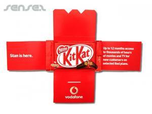 Kit Kat in gedruckter Hüllen