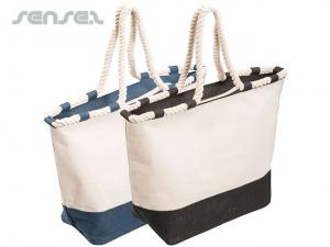 Zip Canvas Tote Bags
