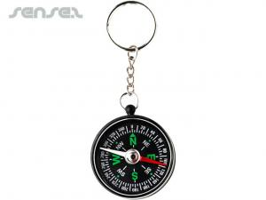 Direction Key Rings With Compass