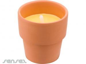 Lehm Citronella-Kerzen