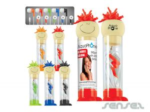 Crazy Hair Earbuds in Clear Tubes