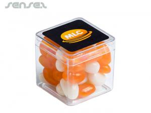 Cube Boxes with Corporate Colour Jelly Beans (60g)