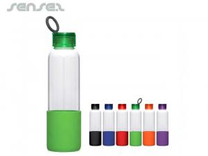 Glass Bottles with Silicone Sleeve (600ml)