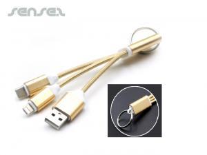 3 in 1 USB-Kabel mit Typ C Schlüsselringe