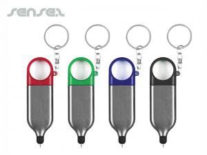 Stylus Magnifier Key Rings