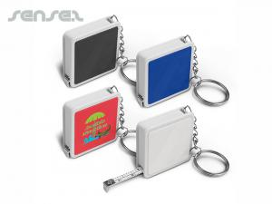 Square Tape Measure Key Rings
