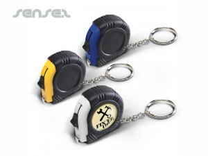 Tape Measure Key Rings Round