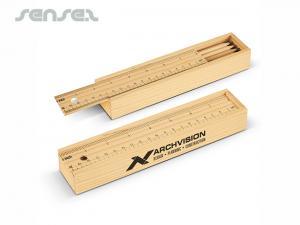 Holzbleistift und Linealsets
