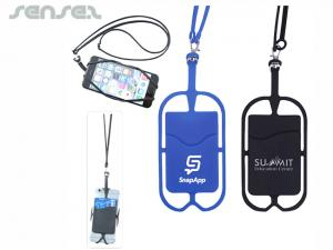 Flexible Silicone Smartphone Lanyard Holders And Wallets