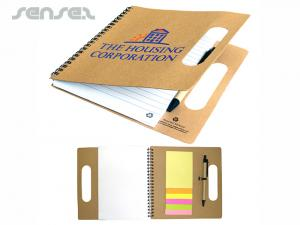 Eco Recycled Notebooks With Note Pads And Pen