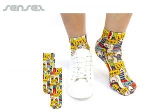Gedruckte Kalbshöhe Socken