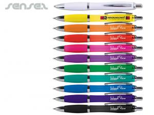 Funky Ballpoint Pens With Optional Pouch